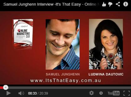 It's That Easy Online Marketing Book Samuel Junghenn Interview image by Think Big Online