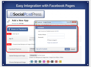 facebook page integration