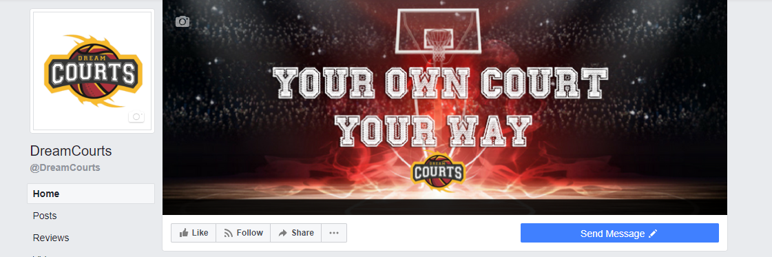 Dream Courts Desktop View