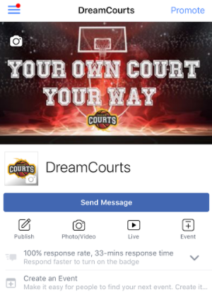 Mobile View Dream COurts