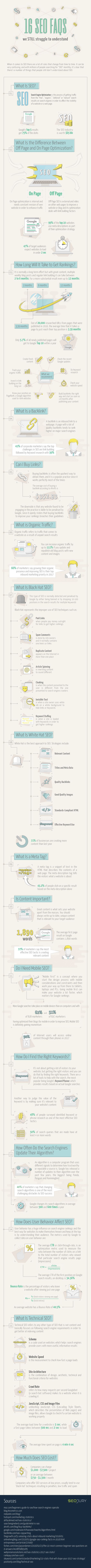 Infographic Image of the 16 SEO FAQs
