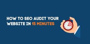 SEO Tips - How To SEO Audit Your Website In 15 Minutes Inforgraphic Featured Image